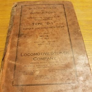 1923 Oil operating manual for Type D-1